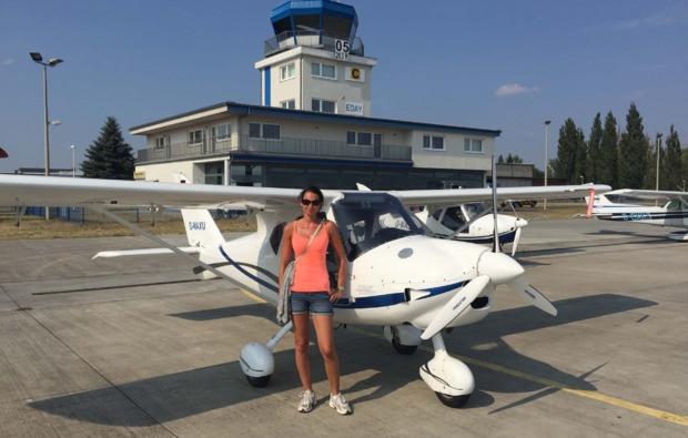 rundflug-ultraleicht-flugzeug-kamenz-startbahn