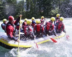 Abenteuer Wochenende  - 1 Übernachtung im Doppelzimmer Mayrhofen Rafting  und Canyoning-Tour