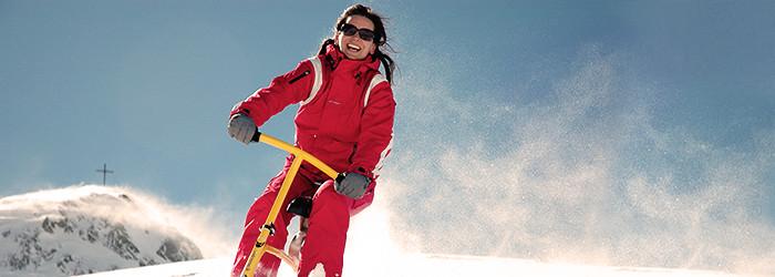 Snowbike fahren
