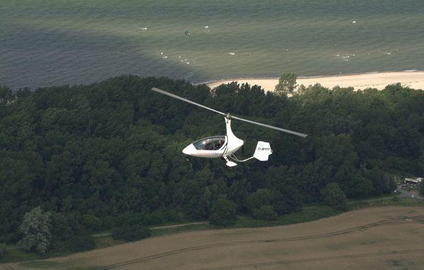 tragschrauber-rundflug-dahlem-ostsee