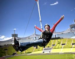 Flying Fox im Olympiastadion Flying Fox Olympiastadion - 45 Minuten