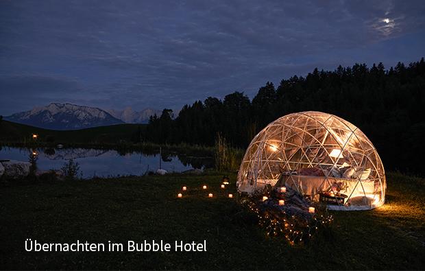 Bubble-Hotel-beschriftet