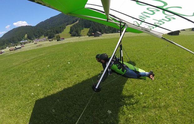 drachen-tandemflug-trento-landung