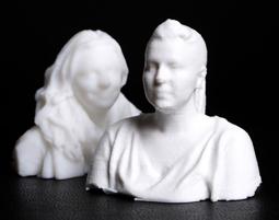 3D-Teilkörperscan mit kleiner Figur einfarbig, ca. 5-7cm hoch