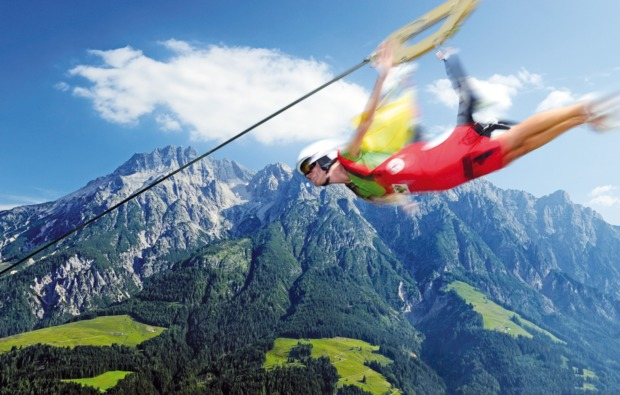 aktivurlaub-leogang-flying-fox