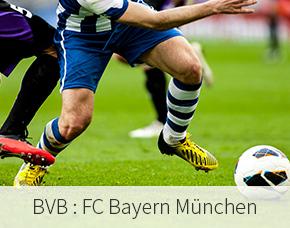 BVB : FC Bayern München - 2018/19 Stehplatz Südtribüne - Unna Tickets Stehplatz Südtribüne – Übernachtung im 4-Sterne Hotel