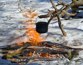 Außergewöhnlicher Kochkurs - Lagerfeuer Kochkurs - Übersee Lagerfeuer Kochkurs - inkl. Getränke