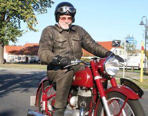 Schwingsatteltour - 1/2 Tag 50er & 60er Jahre Motorrad Tour - 1/2 Tag