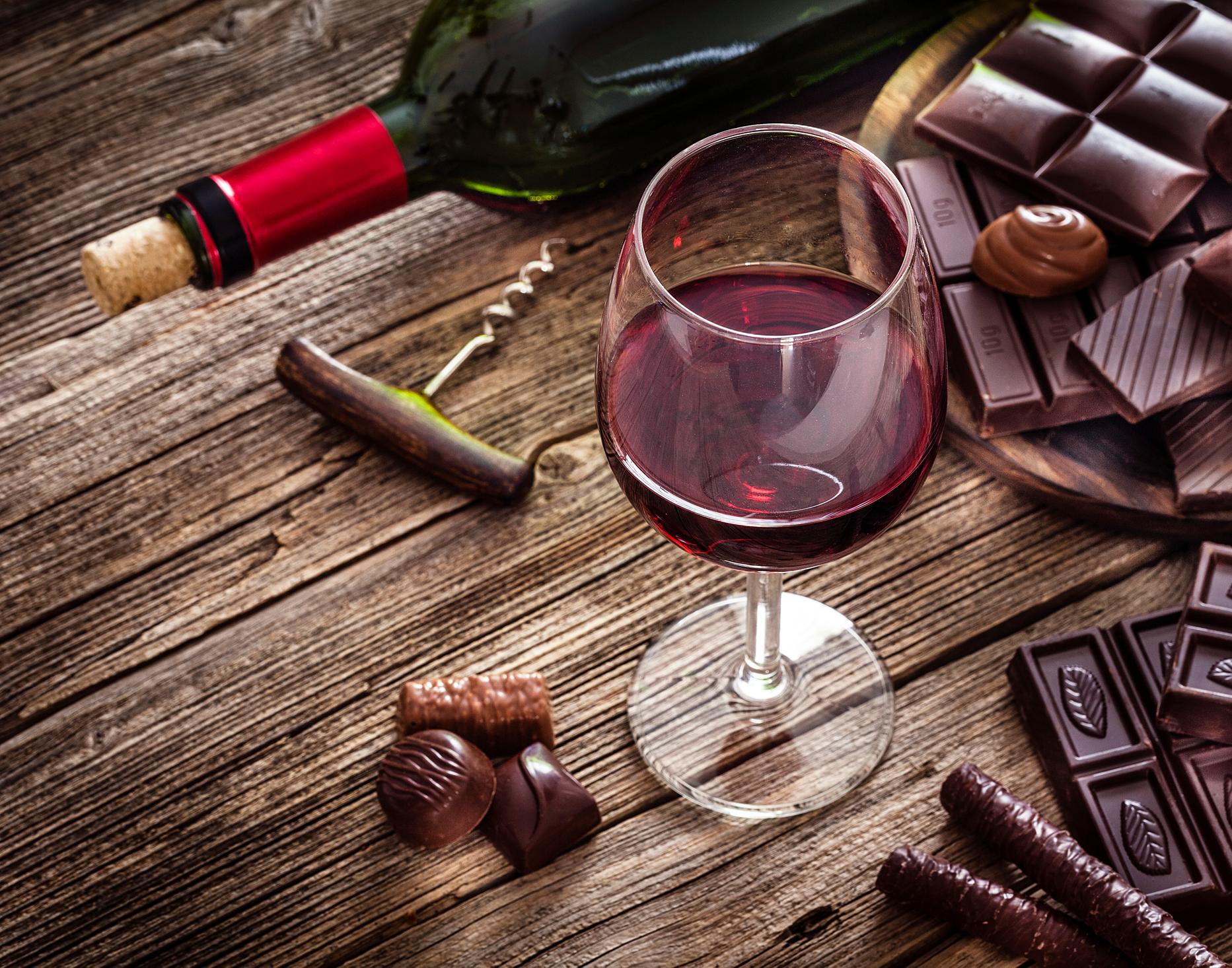 Wein und Schokolade Webinar Wein & Schokoladen Tasting Online Seminar - ca. 2 Stunden