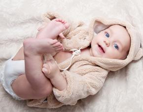 Kinder-Fotoshooting (Baby) Babyshooting, inkl. 5 Bilder digital & 1 Baby-Grußkarte, ca. 1,5 Stunden