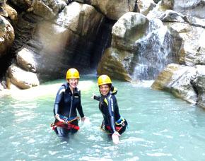 Canyoning Einsteigertour - ca. 4 Stunden Vorarlberg- ca. 4 Stunden