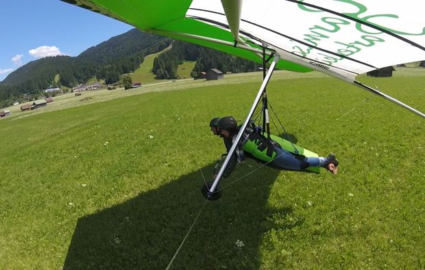 drachen-tandemflug-garmisch-partenkirchen-landung
