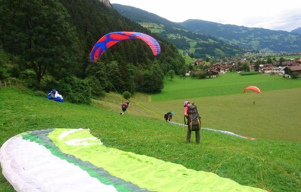 abenteuer-wochenende-gleitschirm-mayrhofen-hang
