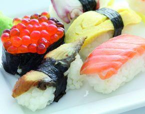 Sushi Restaurants (Sushi-Mittagsmenü) - München, Bahnhofplatz 7 Mittags- und Abendmenü, inkl. Tee & Wein