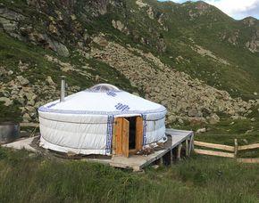 Pernottamento di 1 notte in yurta - colazione in einer Jurte