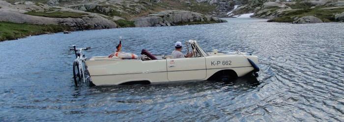 Amphibienfahrzeug fahren