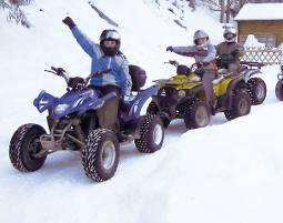 Quad offroad Tour - 1 Stunde - Winter Schneezauber-Tour - 60 Minuten