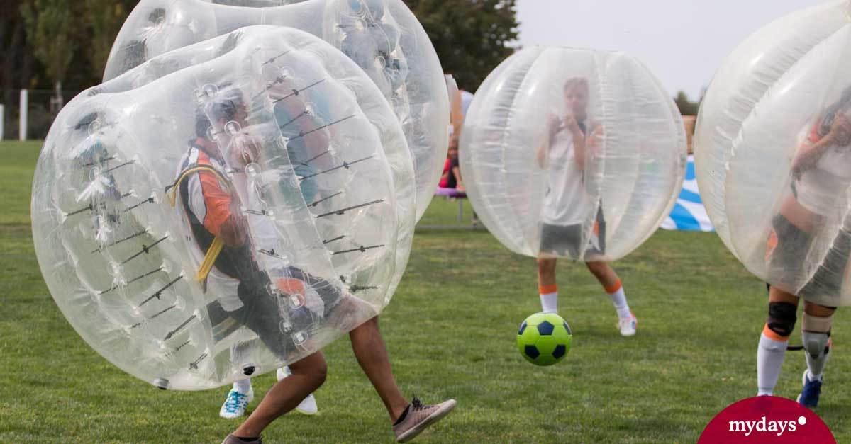 bubble football in m nchen als geschenk mydays. Black Bedroom Furniture Sets. Home Design Ideas