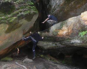 Höhlentrekking mit Schlauchboottour Elbsandsteingebirge - 8 Stunden