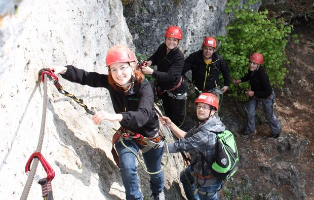 Klettersteig Franken : Klettersteigkurs klettersteig hirschbach nürnberg