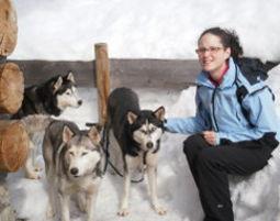 Schneeschuhwanderung mit Husky Ca. 3 Stunden