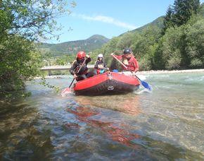 Rafting Familientour - Salzach - 2 Erwachsene und 2 Kinder Active outdoor-unlimited GmbH - Canyoning Tour