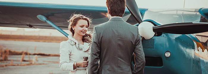 Heiratsantrag in den Wolken