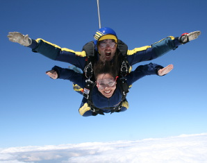 Fallschirm-Tandemsprung   Bad Saulgau Sprung aus ca. 4.000 Metern - ca. 30-60 Sekunden freier Fall