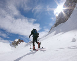 Skitour für Einsteiger mit Hütteneinkehr Einsteigerkurs mit Hüttenessen - ca. 5 Stunden