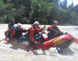 Rafting / Kanutour auf der Bregenzer Ach - Tagestour Lingenau Rafting oder Kanutour  - ca. 8 Stunden