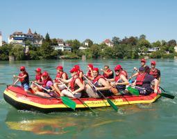 Rafting-Tour - Istein Rhein - ca. 3 Stunden