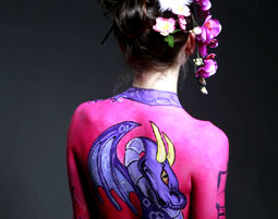 Bodypainting mit Fotoshooting mit professionellem Fotoshooting