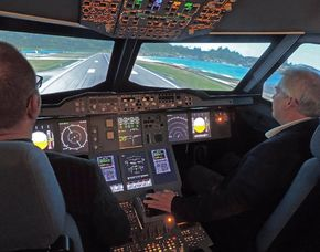 Flugsimulator - 30 Minuten Airbus A380 - 60 Minuten