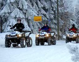 Quad Winter-Tour - Erzgebirge - Holzhau Winter-Tour mit Hottube und Saunabesuch Erzgebirge - 2 Stunden