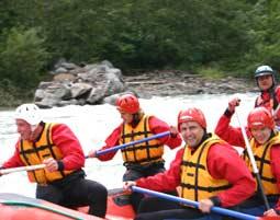 Rafting auf der Gail - Halbtagestour Kötschach-Mauthen Gail - ca. 3,5 Stunden