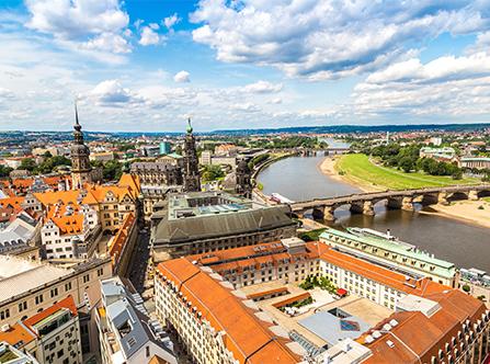 Dresden aus der Vogelperspektive