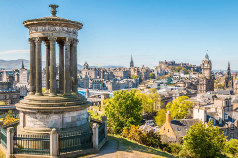 Ausblick über Edinburgh