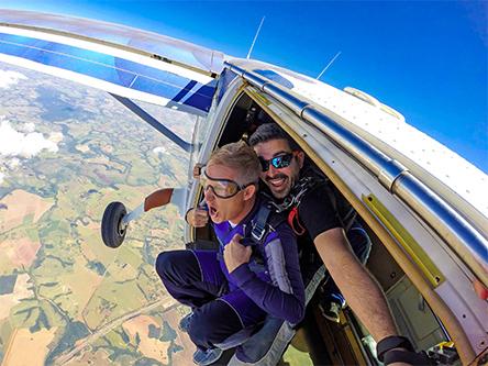 Fallschirm Tandemsprung Absprung