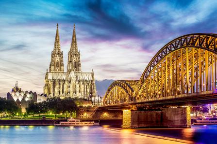 Hohenzollernbrücke Köln Rhein