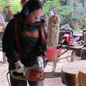 Moderner Bildhauer-Workshop