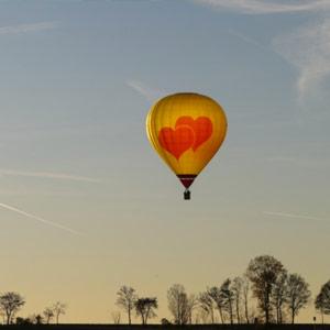Romantische Ballonfahrt
