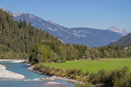 Fluss Lech Tirol Österreich
