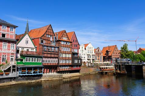 Alter Hafen in Lüneburg an der Ilmenau