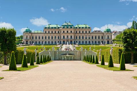 Schloss Belvedere in Wien mit Garten