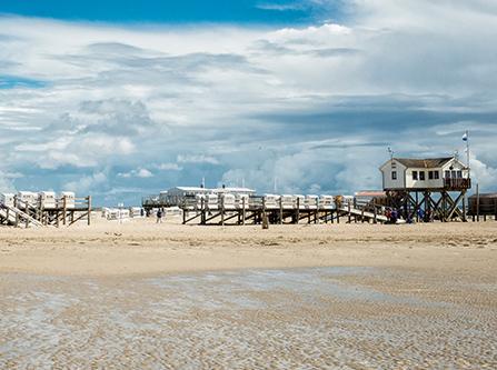 Strand von St. Peter Ording an der Nordsee