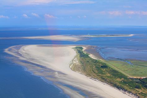 Nordseeinsel Wangerooge aus der Luft