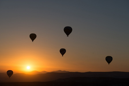 Heißluftballonfahren