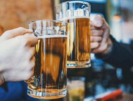 Bier mit Freunden
