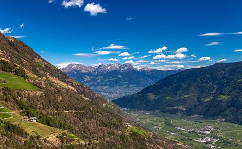 Vinschgau Südtirol Bergpanorama
